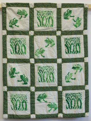 'February Leap Frogs' - made by Surrey Young Quilters