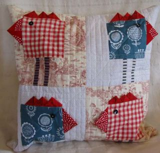Chicken Blocks, Cushion and Purse by Helen Howes