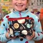 Anya presents her space themed box